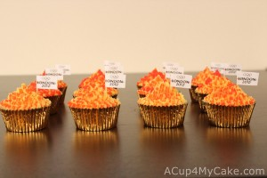 Olympic Cupcakes (Torches)