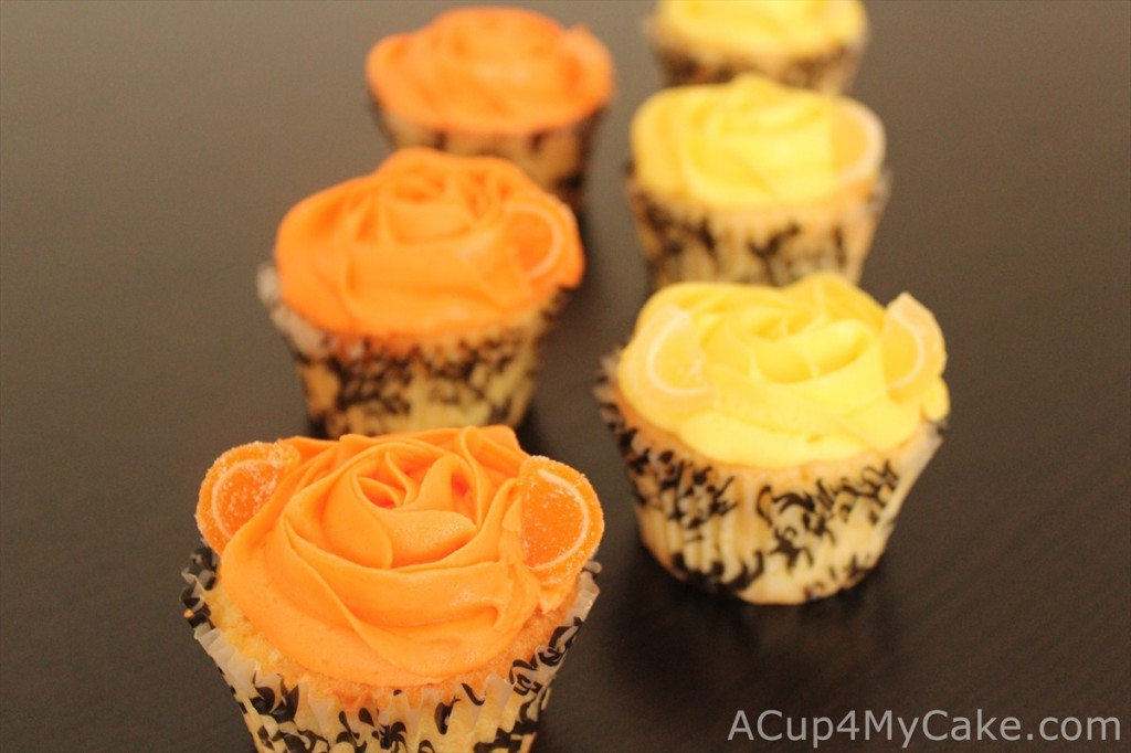 Lemon and Orange Summer Cupcakes