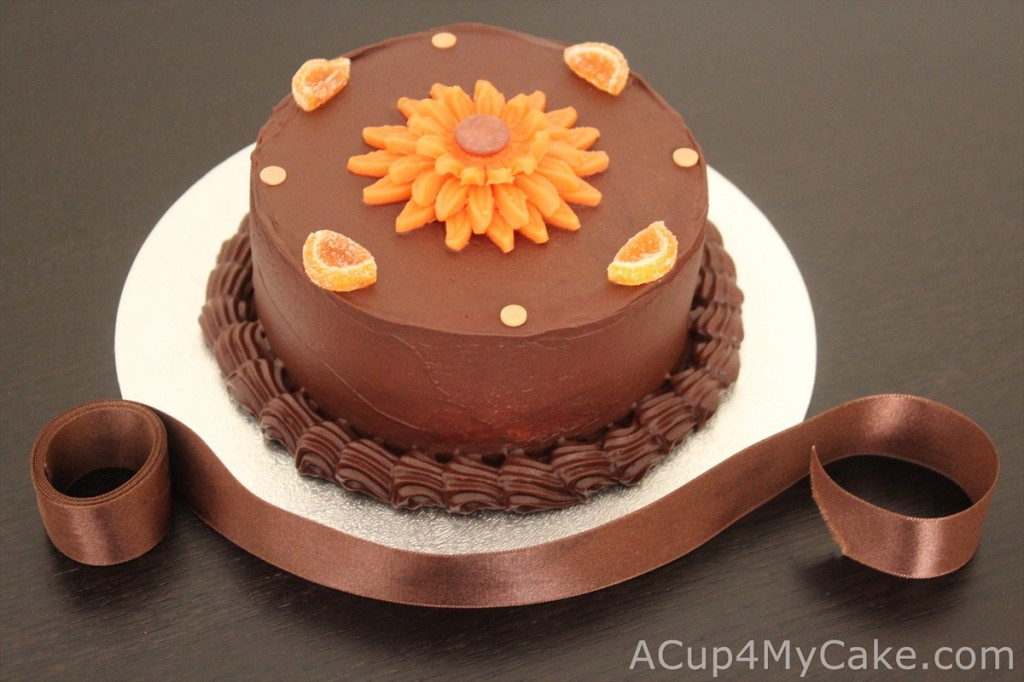 Orange & Dark Chocolate Cake
