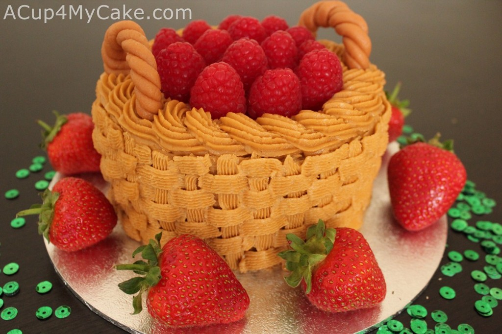 Raspberry Basket Cake