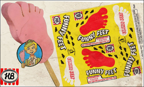 Funny Feet Cookies (like the ice cream!)