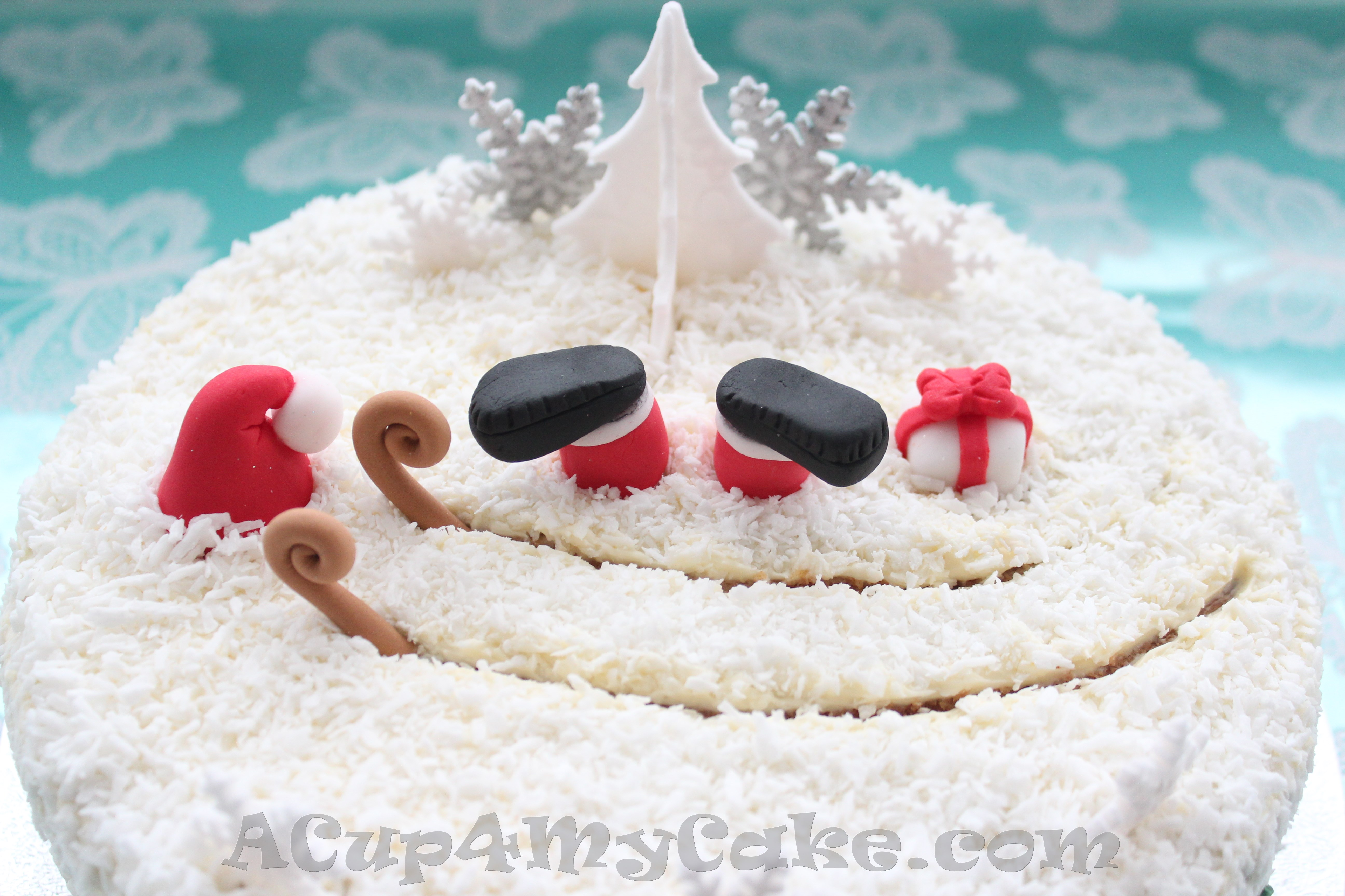 How to make a father christmas cake decoration - I