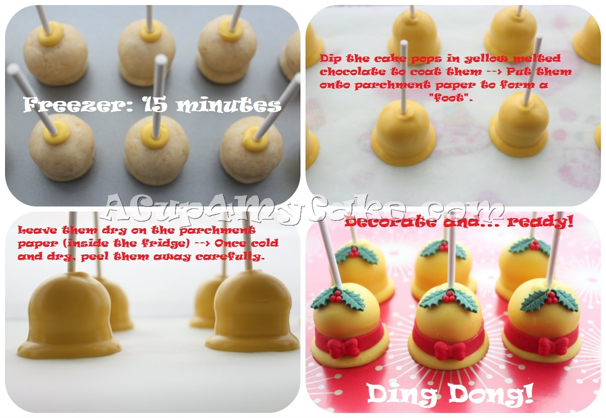Christmas Bell Cake Pops  Step-By-Step Visual Tutorial