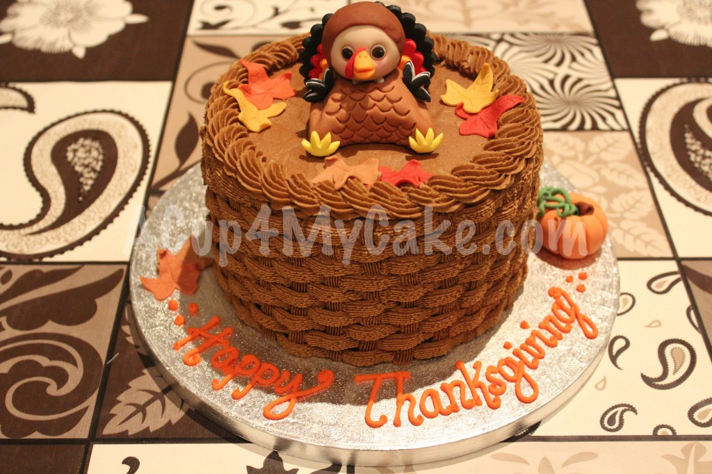 This is the Thanksgiving cake I've made this year for some adorable ...
