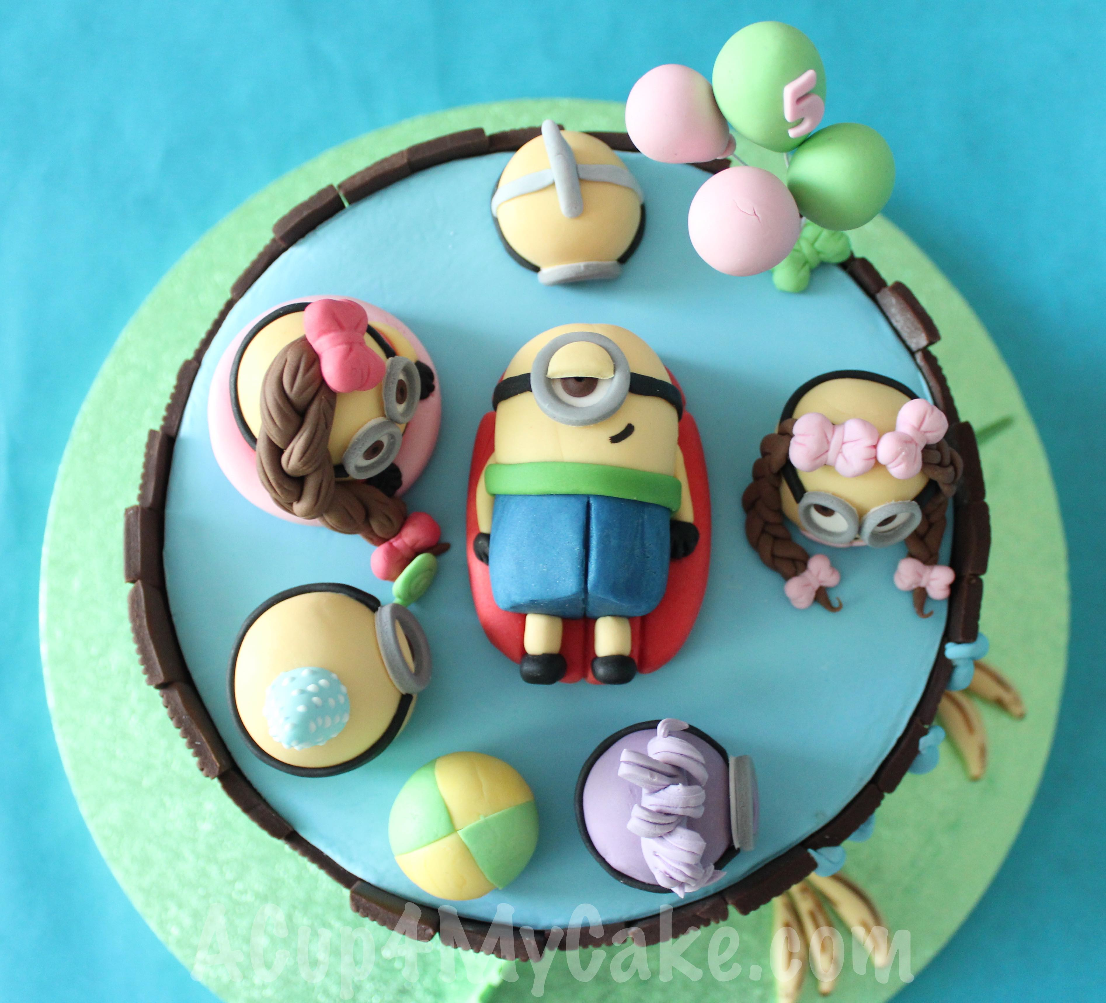 Minion swimming pool cake acup4mycake have baditri Image collections